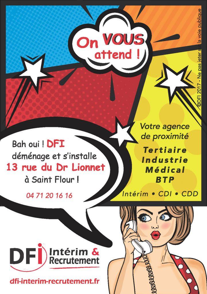 DFI déménage et s'installe 13 rue Docteur Lionnet à Saint Flour